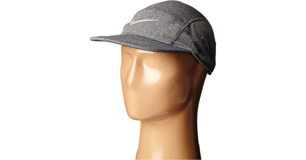 ... discount lyst nike run dri fit knit aw84 hat in metallic for men f2424  a3f18 25f11afd44a8