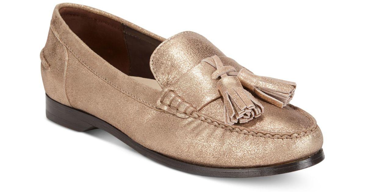 f14765b3324a5 Cole Haan - Metallic Women's Pinch Grand Tassel Loafers - Lyst