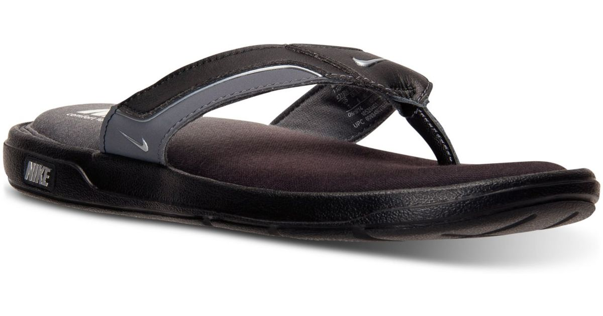 8640b13f3a33 Lyst - Nike Men s Solarsoft Comfort Thong Sandals From Finish Line in Black  for Men