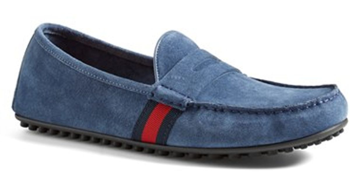 249a99c6c Gucci 'kanye' Driving Shoe in Blue for Men - Lyst