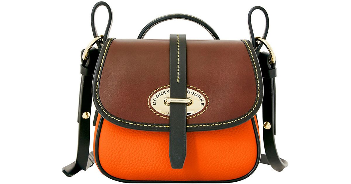 Dooney Bourke Verona Christina Leather Crossbody Bag In Orange Lyst