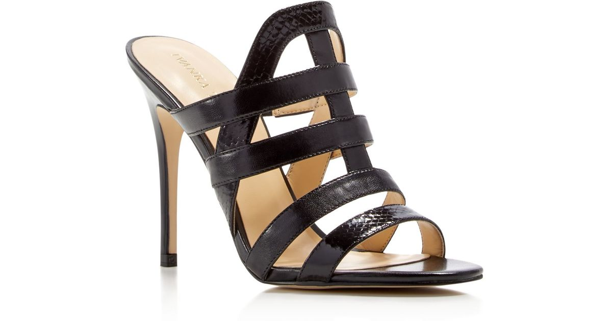 Ivanka trump Hullen Strappy High Heel Sandals in Black  Lyst