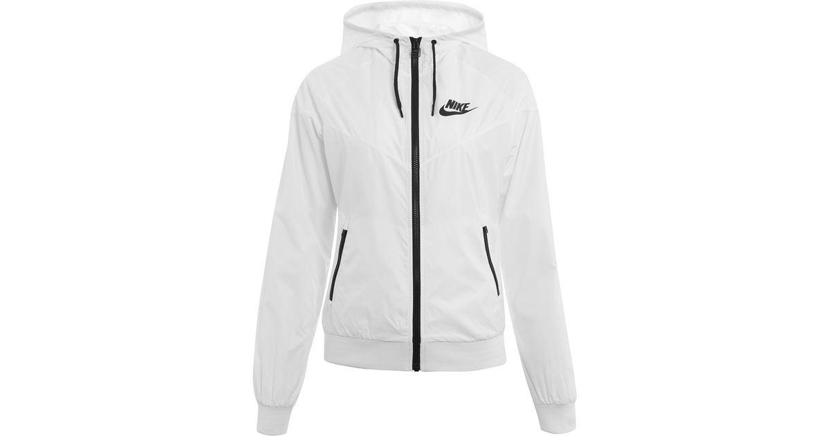06f179ce95f7 Nike White Windrunner Jacket in White - Lyst