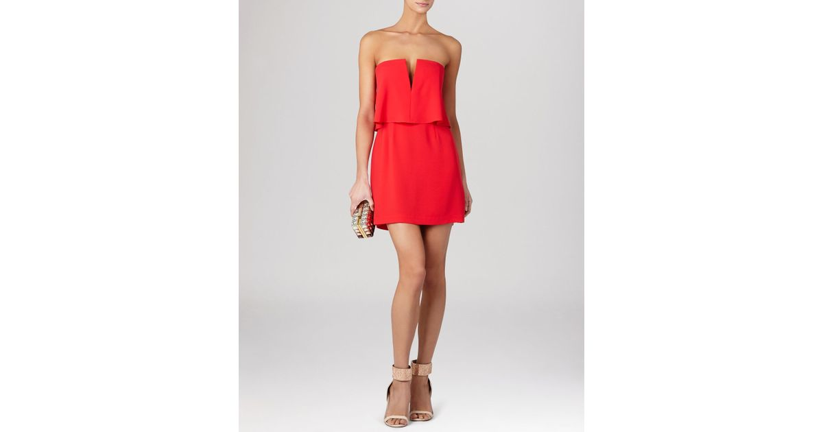 Bcbgmaxazria Dress - Kate Overlay in Red | Lyst