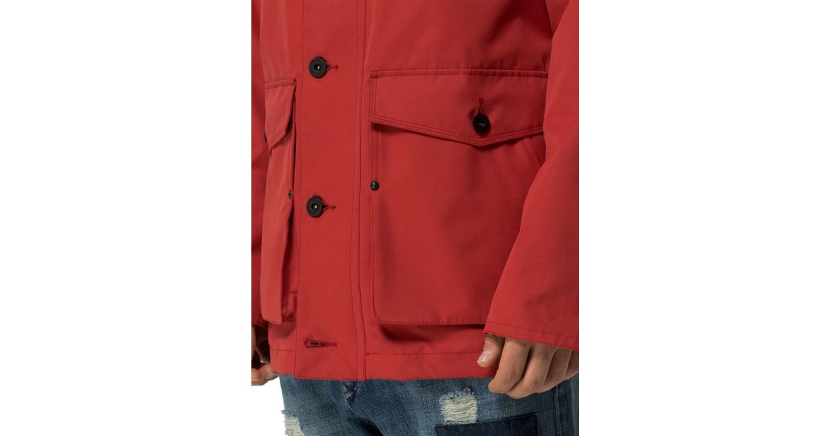 tommy hilfiger bonded parka 16 in red for men lyst. Black Bedroom Furniture Sets. Home Design Ideas
