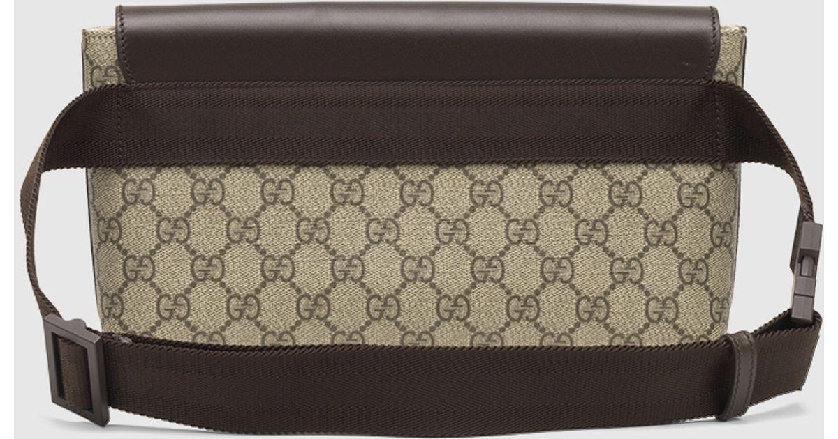 Lyst - Gucci Gg Supreme Canvas Belt Bag in Brown