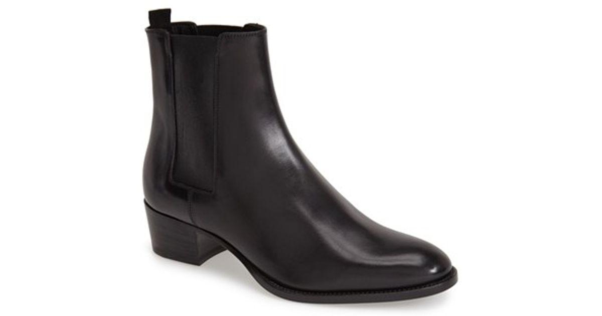 d23e197e8cf7 Lyst - Saint Laurent  wyatt  Chelsea Boot in Black