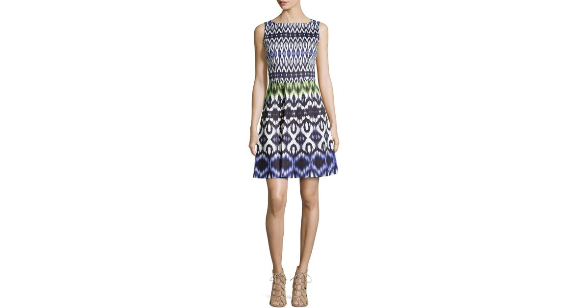 577ca515a35f Lyst - Maggy London Crepe Multipattern A-line Dress in Purple
