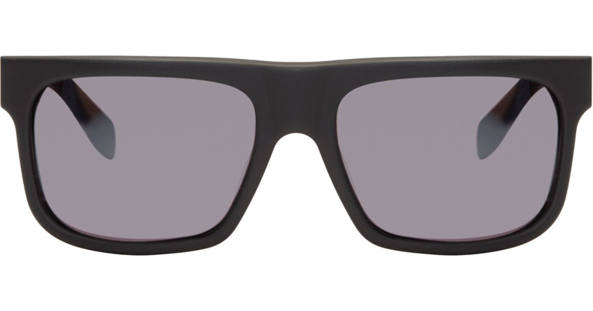 9f1ec221988 Alexander Mcqueen Black Matte Square Sunglasses in Black for Men - Lyst