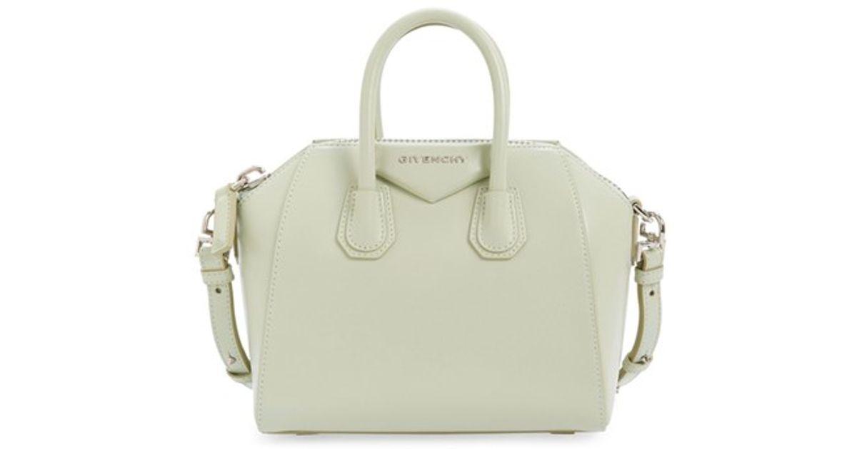 959b437b6b45 Lyst - Givenchy  mini Antigona  Box Leather Satchel in Green