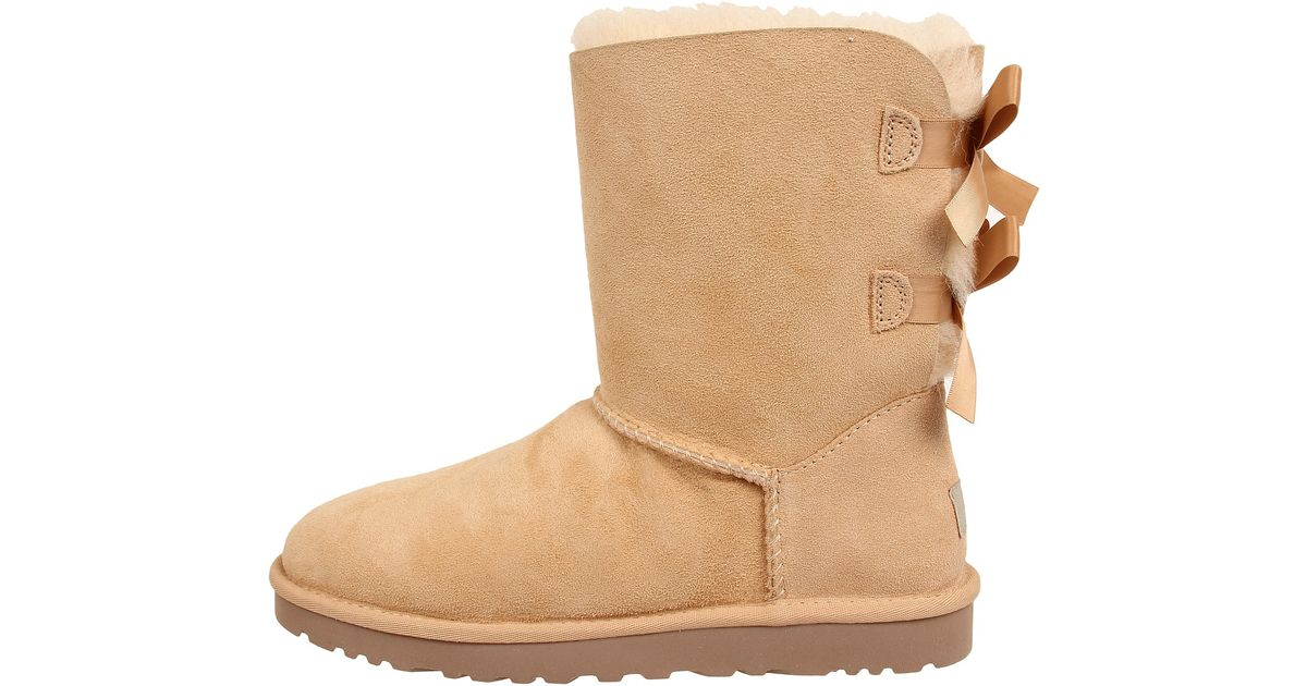 lyst ugg bailey bow in brown rh lyst com