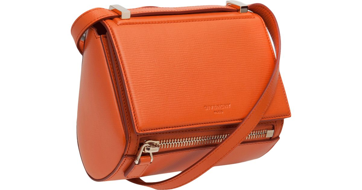 590880d631 Lyst - Givenchy Mini Pandora Box Bag in Orange