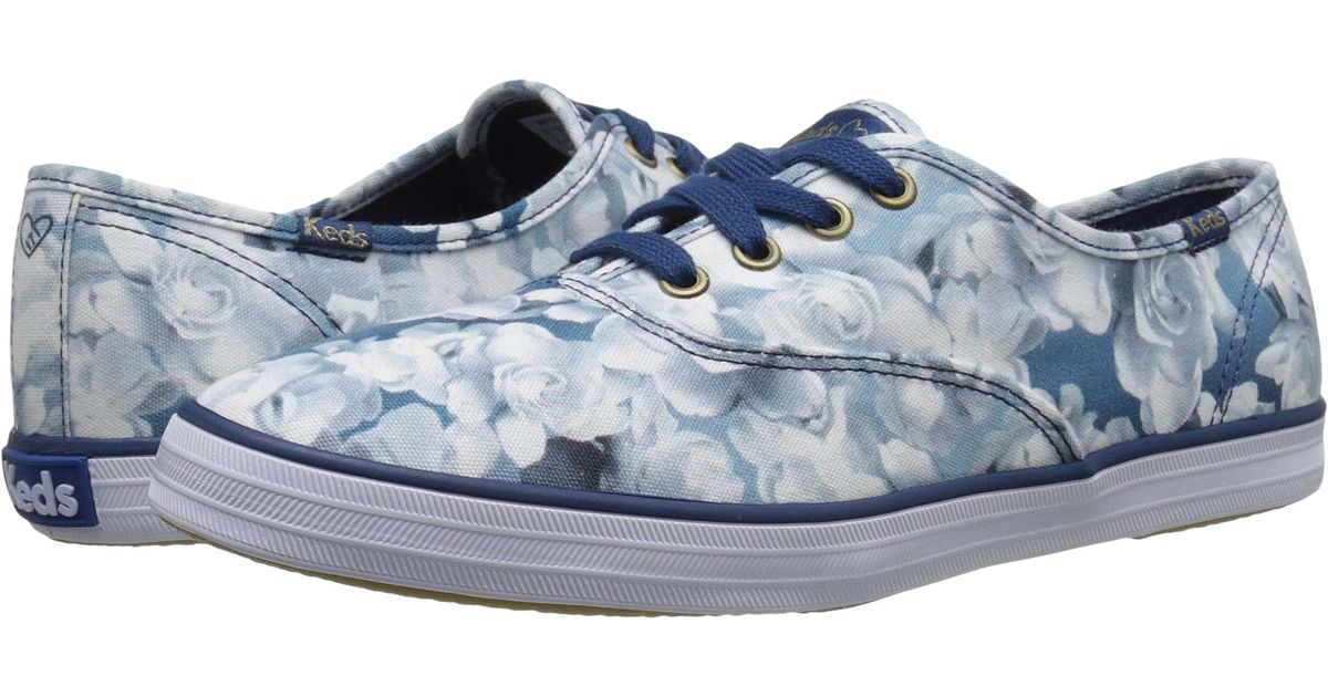 aebd0d957a Lyst - Keds Taylor Swift s Champion Floral Print in Blue