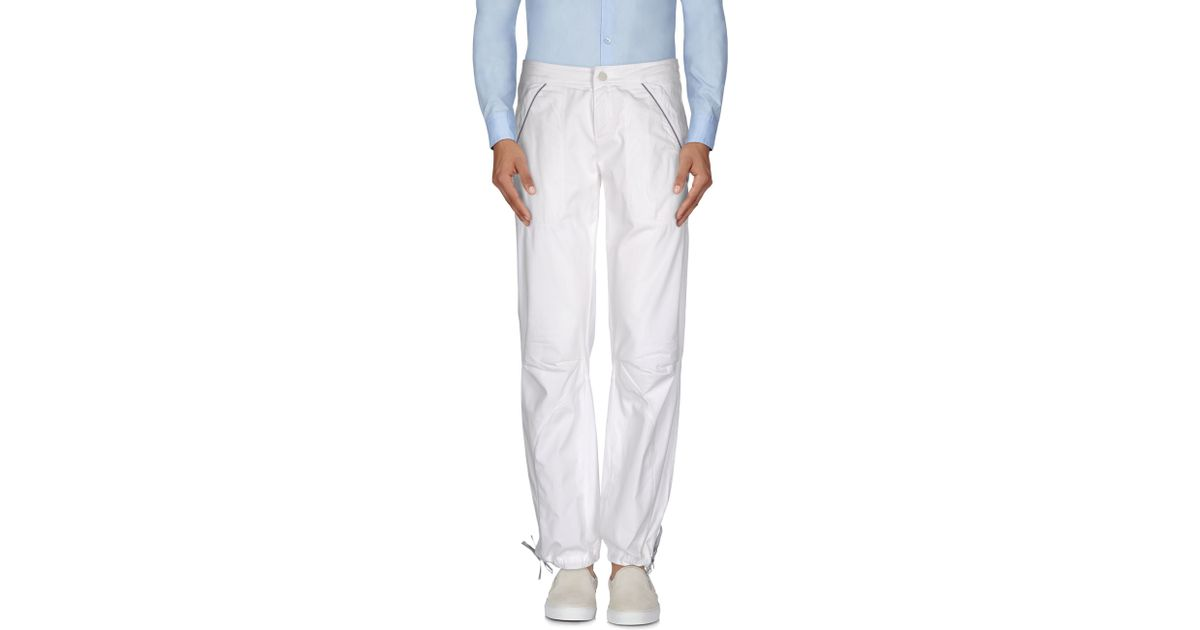 murphy nye casual trouser in white for men lyst. Black Bedroom Furniture Sets. Home Design Ideas