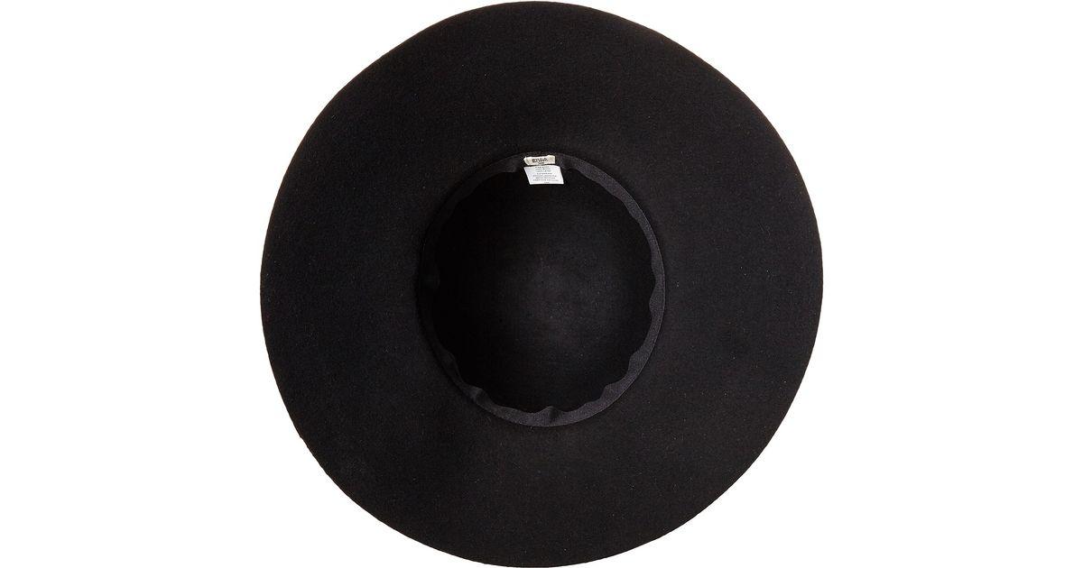 b6eaf90d52353 ... italy lyst billabong traveling tides wide brim felt hat in black bd10d  ccbc7