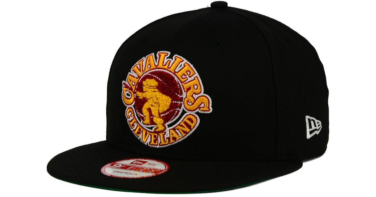sale retailer 0b9b8 bf4d8 Lyst - KTZ Cleveland Cavaliers Letter Man 9fifty Snapback Cap in Black for  Men
