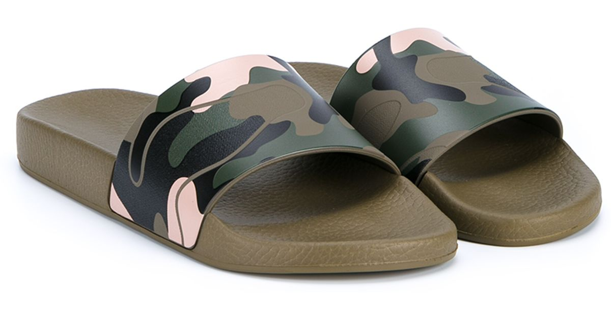 Valentino Camouflage Slide Sandal visit new for sale for sale buy authentic online store for sale buy cheap online purchase cheap price cBVuego