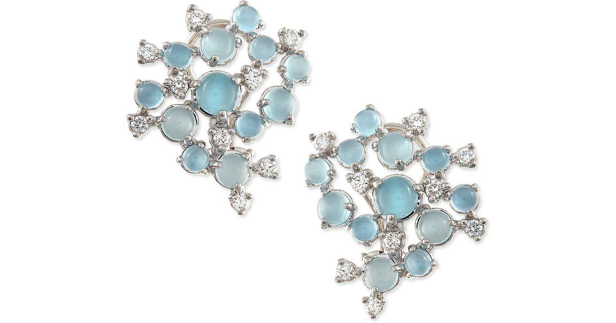 Paul Morelli Aquamarine & White Diamond Bubble Cluster Earrings 71xQ67W