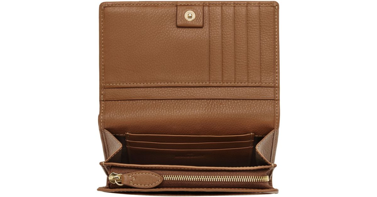 ba603c2193f1 ... best price lyst mulberry daria french purse in brown 3b8e2 50f70