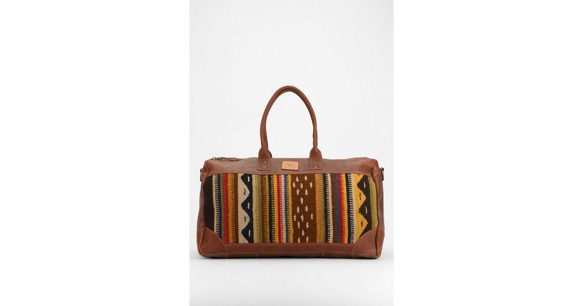 Lyst - Will Leather Goods Oaxacan Duffel Bag in Brown 407f89bbf6089