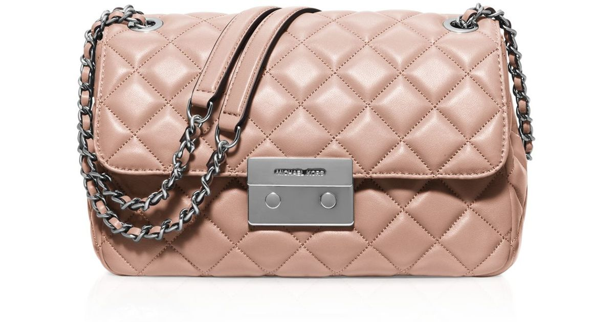 20db663127 Lyst - MICHAEL Michael Kors Sloan Large Chain Shoulder Bag in Pink