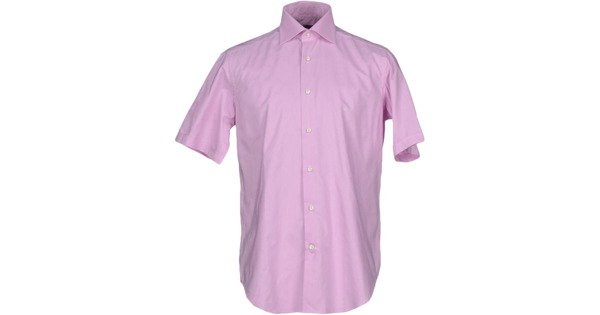 Emanuel ungaro shirt in purple for men lyst Light purple dress shirt men