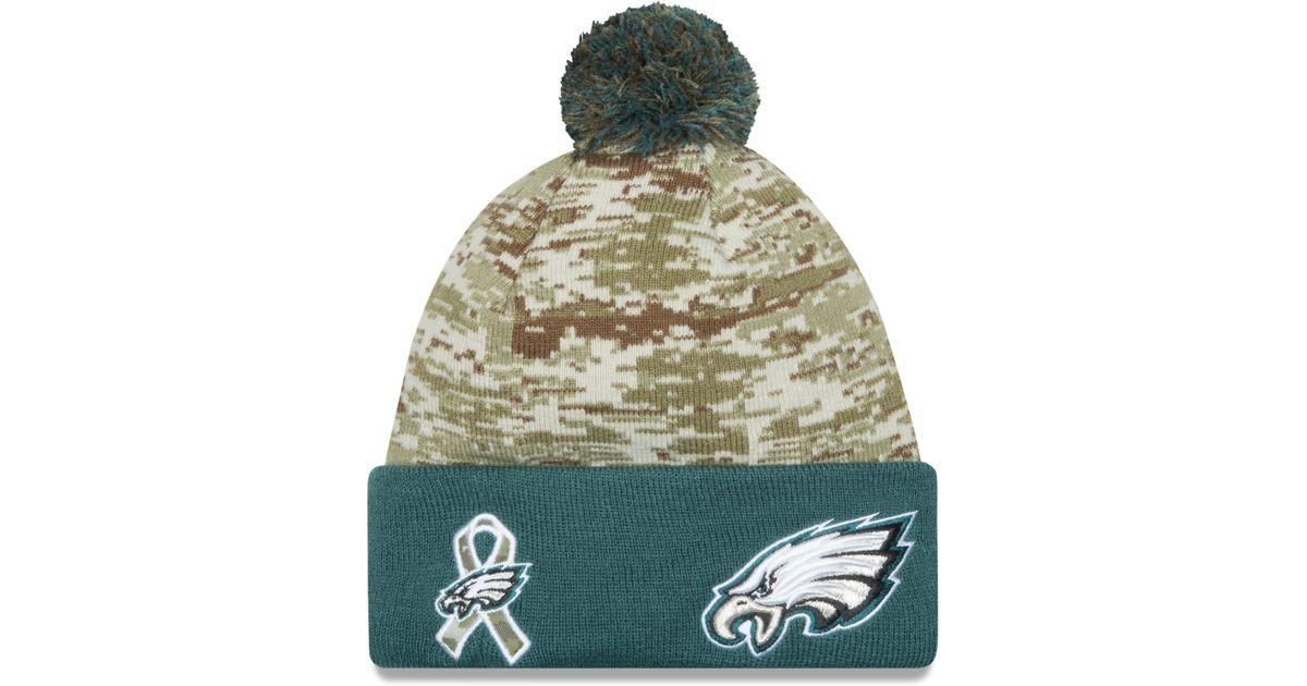 347973855f0 Lyst - KTZ Philadelphia Eagles Salute To Service Knit Hat in Green for Men