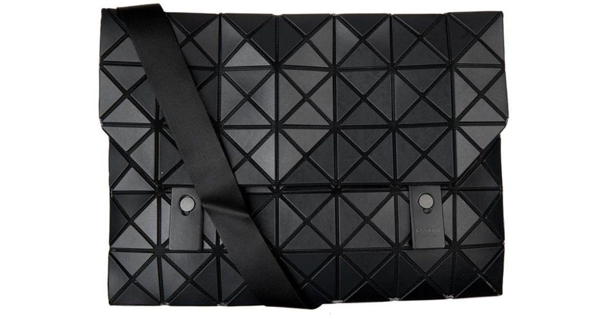 Lyst - Bao Bao Issey Miyake Prism Messenger Bag in Black for Men 0ee69deb7d2c0