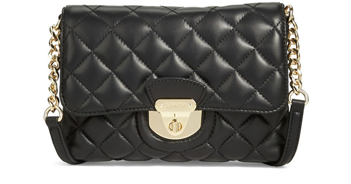 Calvin klein Quilted Crossbody Bag in Black | Lyst : calvin klein quilted leather crossbody bag - Adamdwight.com