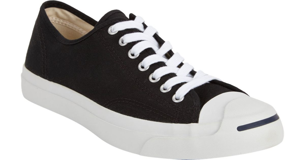 028cbebeb87e Lyst - Converse Jack Purcell Canvas Low-Top Sneakers in Black for Men