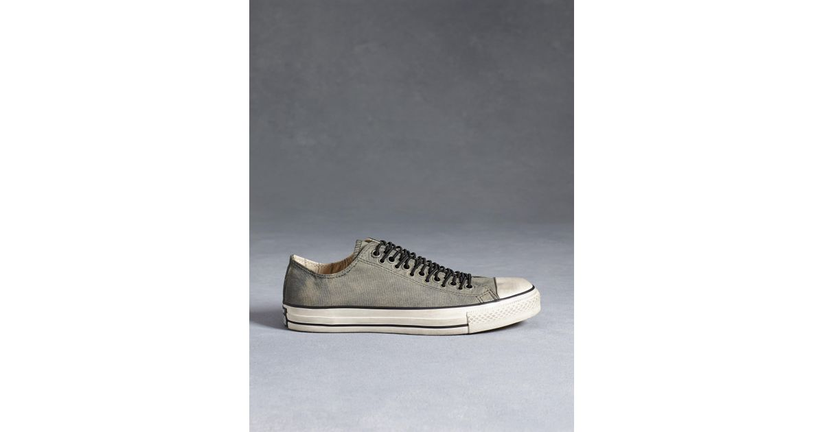 fd3f5fc4a86e Lyst - John Varvatos All Star Multi-eyelet Painted Canvas Chuck Taylor in  Green for Men