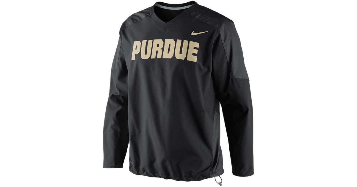 Nike Men'S Purdue Boilermakers Dri-Fit Pullover Wind Jacket in ...