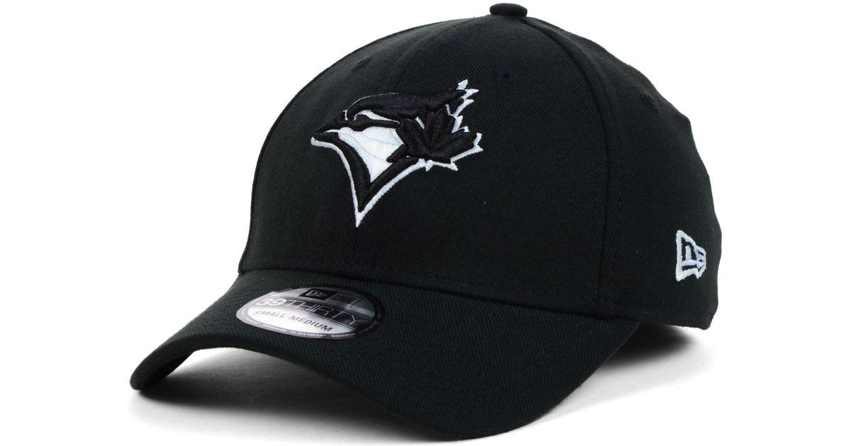 promo code e0893 70434 KTZ Toronto Blue Jays Black and White Classic 39thirty Cap in Black for Men  - Lyst