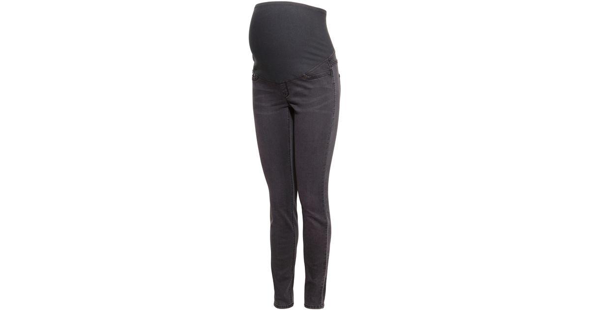 ff83f1de18cd1 H&M Mama Super Skinny Jeans in Gray - Lyst