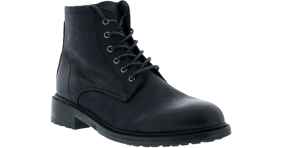 blackstone leather lace up boots in black lyst