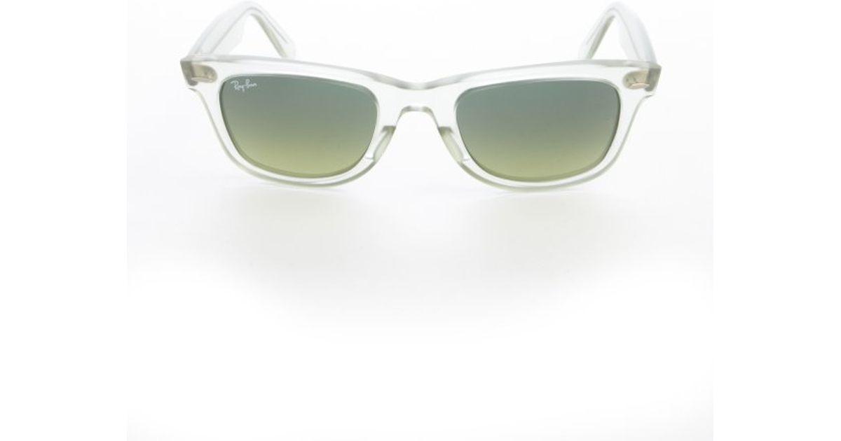 1b2912ef8b ... shopping lyst ray ban demi gloss green original wayfarer ice pop  sunglasses in green c34b3 de9c3