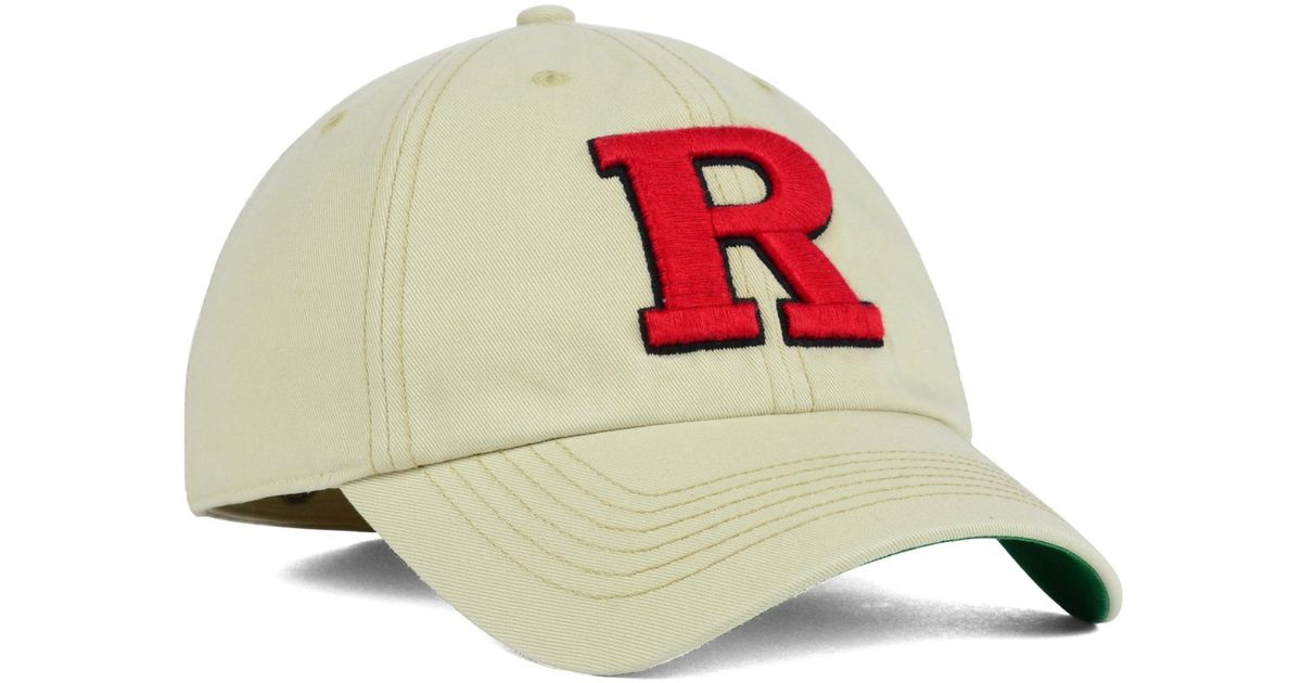uk availability a22dd eeaf5 ... hot lyst 47 brand rutgers scarlet knights franchise cap in natural for  men dc885 885d0