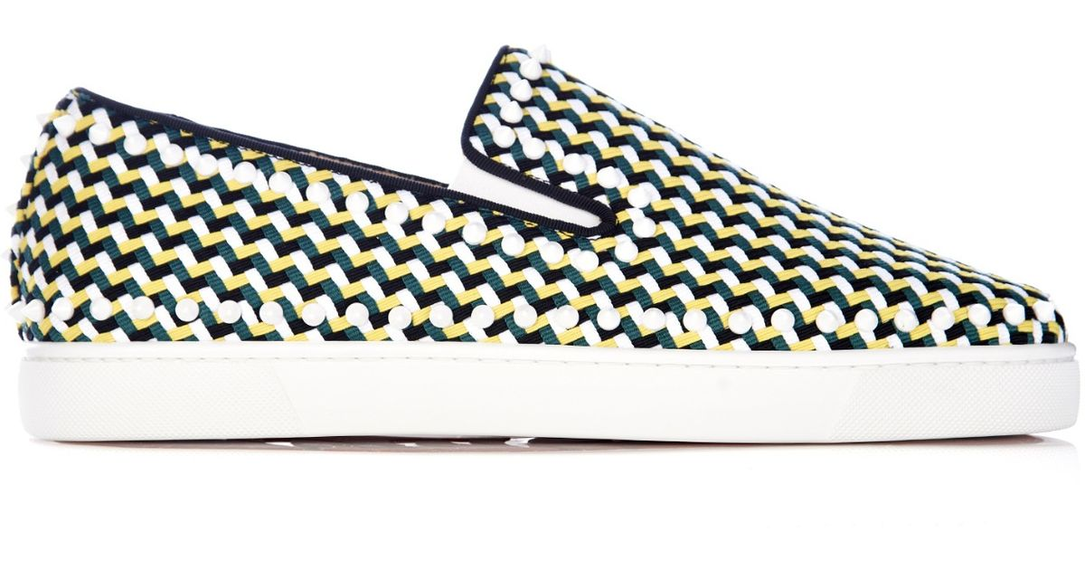 Christian louboutin Pik Boat Slip-On Trainers in Yellow for Men ...