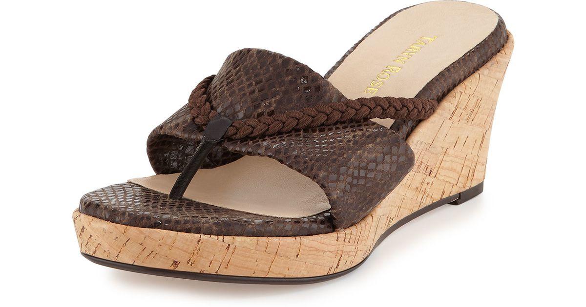 2d0c3334eb4 Lyst - Taryn Rose Keely Braided Cork Wedge Sandal