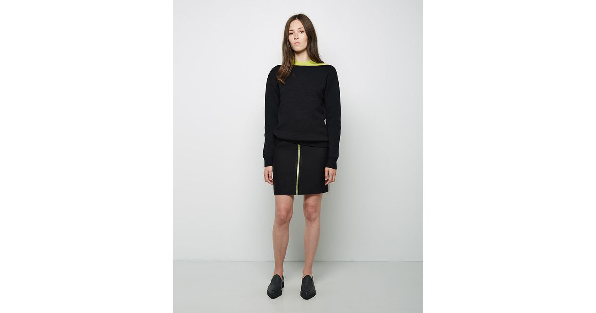 wang fitted pencil skirt in black lyst