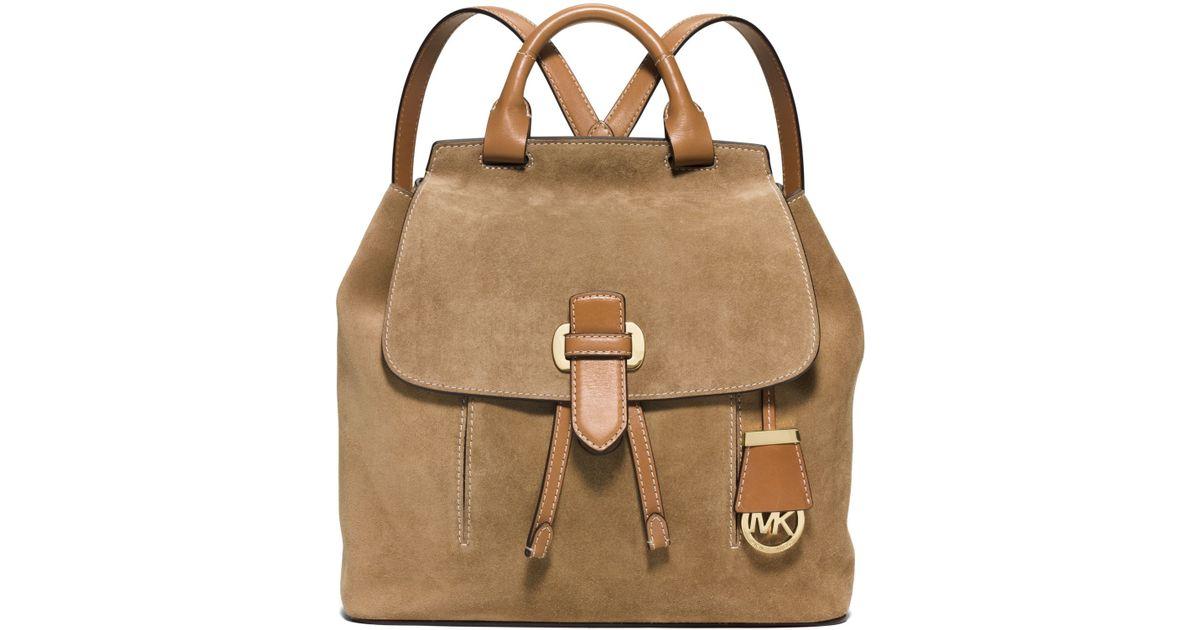 86567a48440a ... shopping lyst michael kors michael romy medium backpack in brown 39148  cd16d