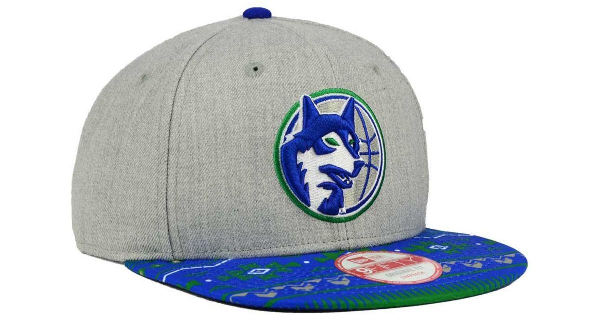 7396a6ce61ed58 Lyst - KTZ Minnesota Timberwolves Neon Mashup 9fifty Snapback Cap in Gray  for Men