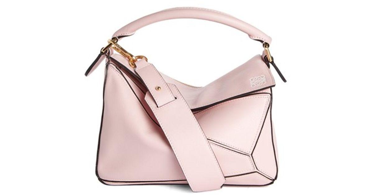 e06069379dd5 Lyst - Loewe Mini Puzzle Calfskin Leather Bag in Blue