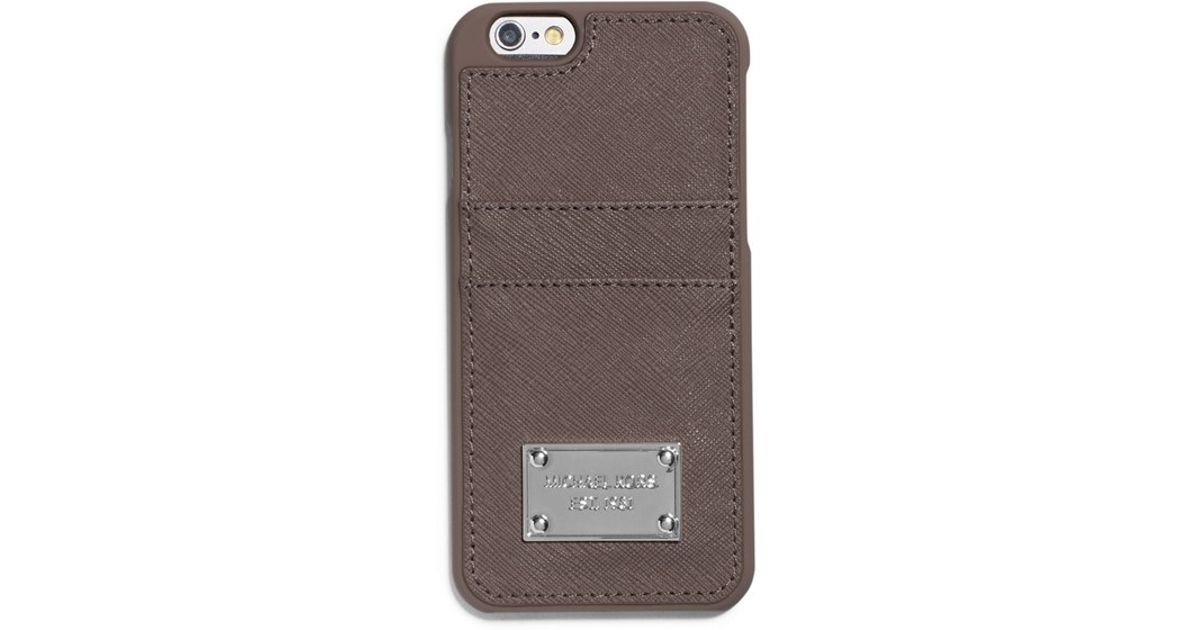 info for 5f33e 0dadb MICHAEL Michael Kors - Brown Card Holder Iphone 6 & 6s Case - Lyst