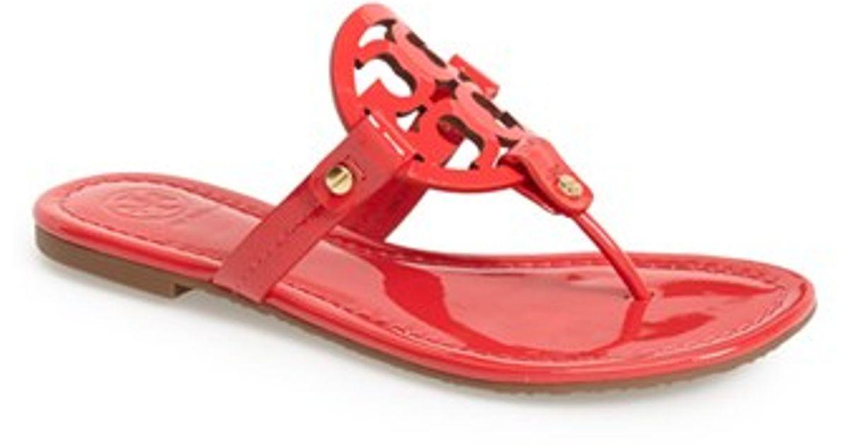 cef4d28851c9 Lyst - Tory Burch  miller  Sandal in Red