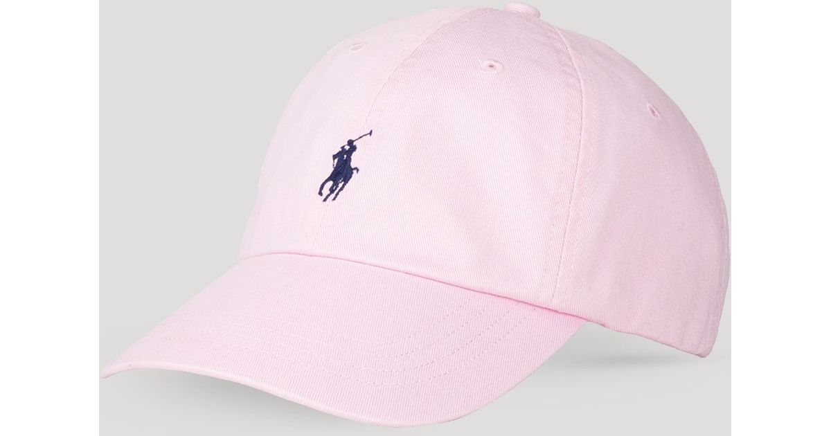 d1d8e008a28 Lyst - Ralph Lauren Polo Classic Chino Sports Cap in Pink for Men