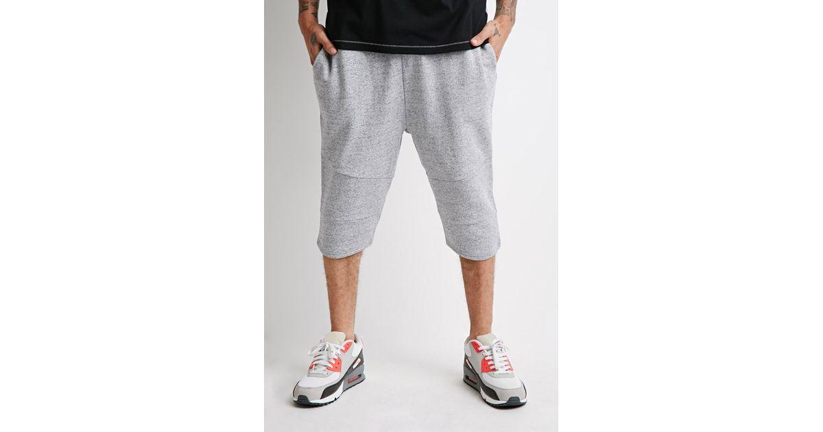 Forever 21 Marled Knee-length Shorts in Gray for Men | Lyst