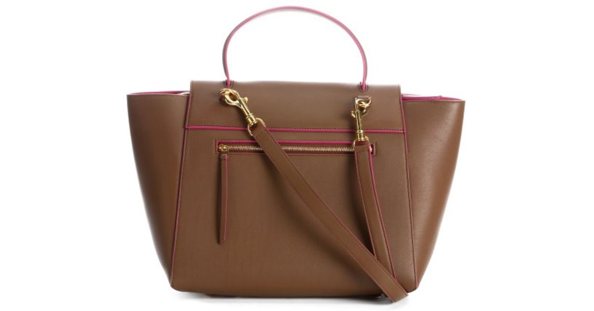 C¨¦line Camel Leather Top Handle Trapeze Bag in Brown (camel) | Lyst