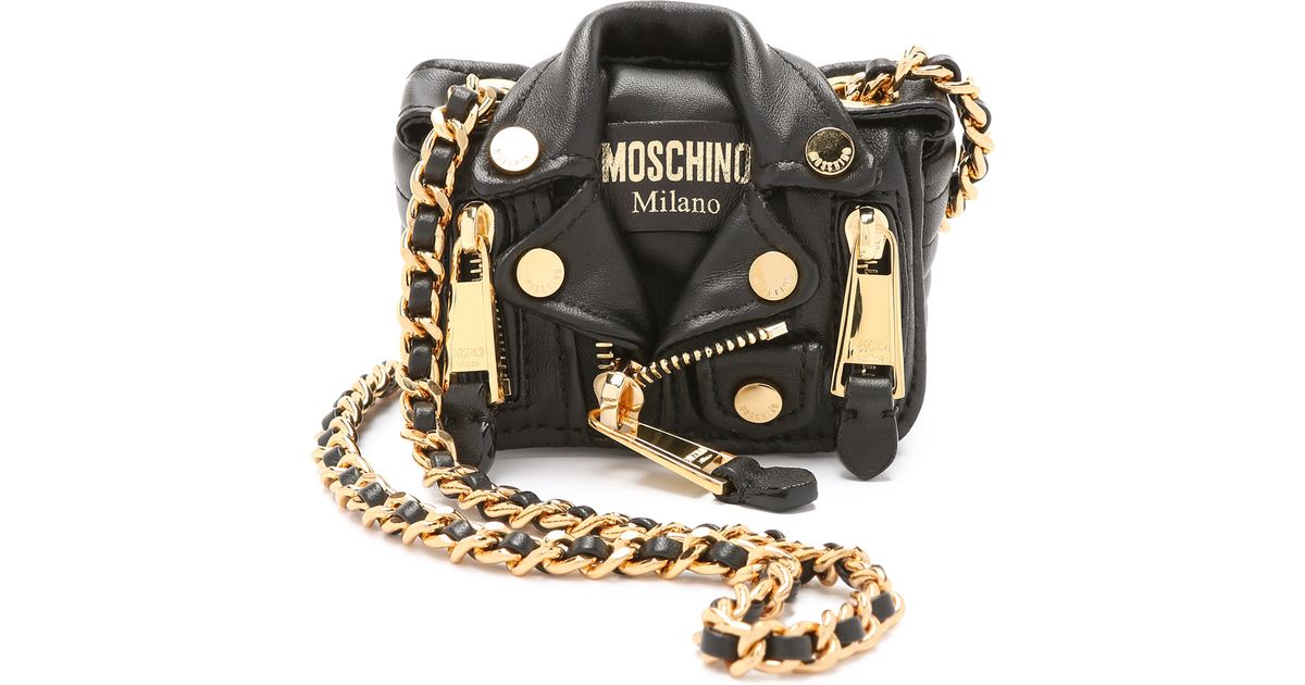 83cec7467 Moschino Mini Motorcycle Cross Body Bag - Black in Black - Lyst