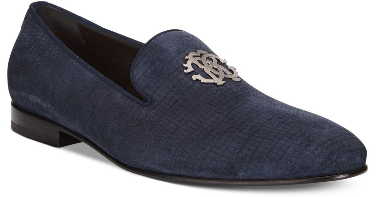 3dd94860fe6 Lyst - Roberto Cavalli Plaintoe Bit Loafers in Blue for Men